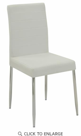 Vance Contemporary White Vinyl Dining Side Chair - Set of 2