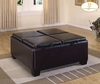 Vega Dark Brown Bi-Cast Vinyl Storage Ottoman by Homelegance 459B