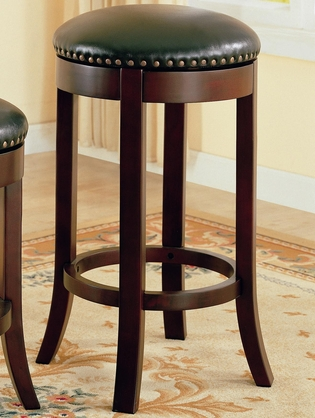 Walnut Backless Swivel Bar Stool (Set of 2) by Coaster - 101060
