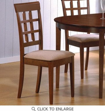 Walnut Finish Wheat Back Dining Chairs by Coaster 101772 - Set of 2