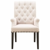 Weber Upholstered Dining Arm Chair with Diamond Tufting