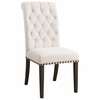 Weber Upholstered Dining Side Chair with Diamond Tufting - Set of 2