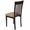 Wellington Espresso Finish Wood Dining Chair with Rail Back and Brown Fabric Seat [ES-CB-3950YBH-E-BGE-GG]