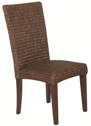 Westbrook Casual Woven Dark Brown Dining Chairs by Coaster 101094 - Set of 2