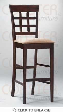 Wheat Back Cappuccino Finish Bar Stool (Set of 2) by Coaster