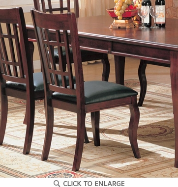 Wheat Back Cherry Dining Chairs by Coaster 100502 - Set of 2