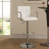 White and Chrome Adjustable Bar Stool Chair with Foot Rest by Coaster 121097