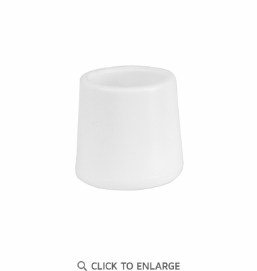 White Replacement Foot Cap for Plastic Folding Chairs [LE-L-3-WHITE-CAPS-GG]