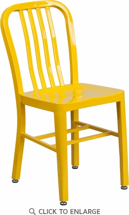 Yellow Metal Indoor-Outdoor Chair [CH-61200-18-YL-GG]