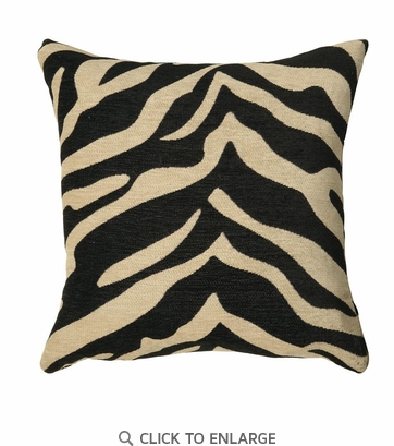 Zebra Print Pattern Accent Pillow by Coaster 905022 - Set of Two