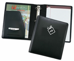 2-Inch Ring Binder Leather Padfolio, Customized