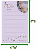 4x6 Adhesive Notepad, 25 Sheets, Full Color Imprint