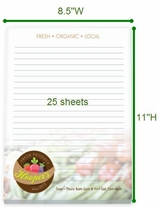 8.5x11 Notepad, 25 Sheets, Full Color Imprint