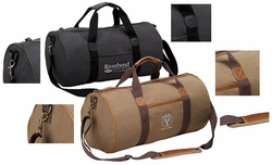 Canvas Barrel Style Duffel Bag, Customized