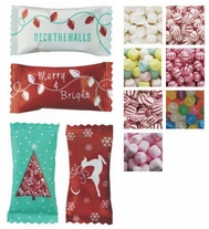 Christmas Themed Individually Wrapped Mints & Candies - Case of 1000