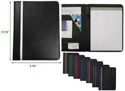 "Color Stripe Custom Padfolio - 9.5""w x 12.63""h"