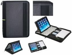 "Custom 10"" Tablet Padfolio Organizer and Stand - 8.25""w x 11.75""h"