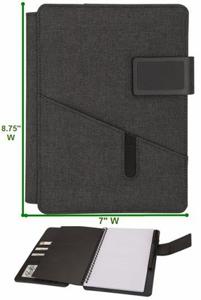"Custom Junior Padfolio with Spiral Notebook - 7""w x 8.75""h"