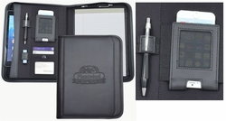 "Custom Tech Padfolio with Tablet Pocket and Full Size Notepad - 11""w x 14""h"