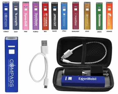 Customized 2600 mAh Mobile Phone Charging Kit