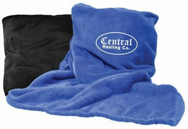 Customized Fleece Blanket & Pillow Combo