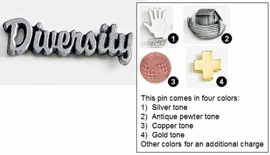 Diversity Metal Lapel Pin