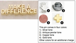Make A Difference Metal Lapel Pin