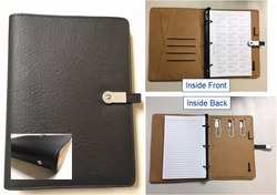 Refillable Junior Padfolio with Built-In Power Bank