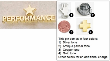 Star Performance Metal Lapel Pin