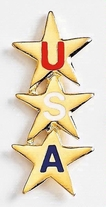 USA Stars Metal Lapel Pin