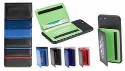 Vinyl Phone Wallet, Folds and Fastens Shut - Customized