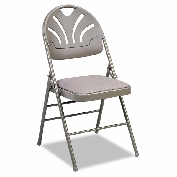 Cosco® Fabric Padded Seat/Molded Fan Back Folding Chair ...