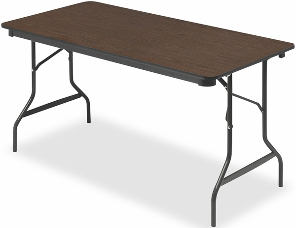Economy 24 39 39 W X 48 39 39 D Wood Laminate Folding Table With Bull