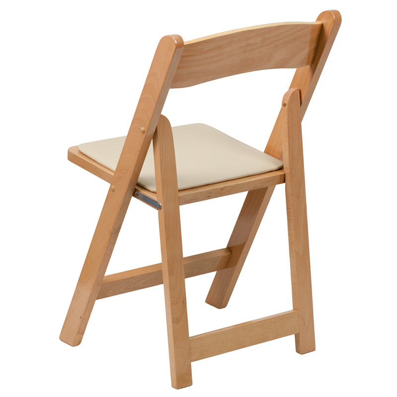 hercules series natural wood folding chair with vinyl. Black Bedroom Furniture Sets. Home Design Ideas