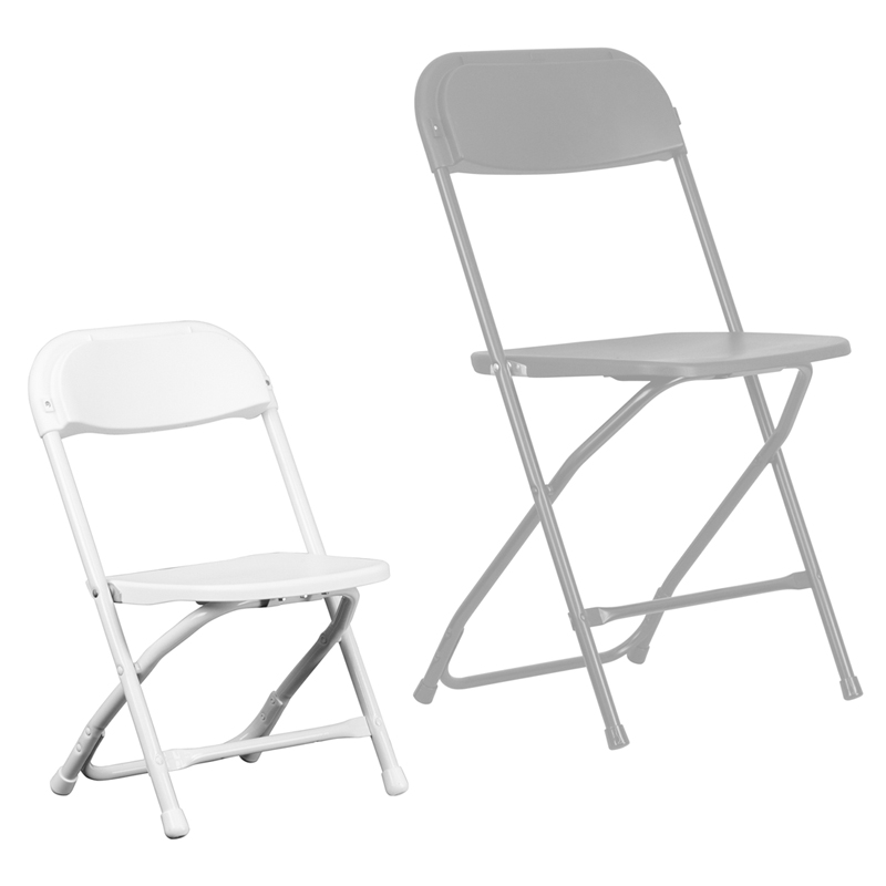 Kids White Plastic Folding Chair