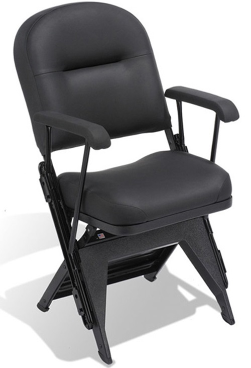 vip series upholstered seat and back folding chair with arms and