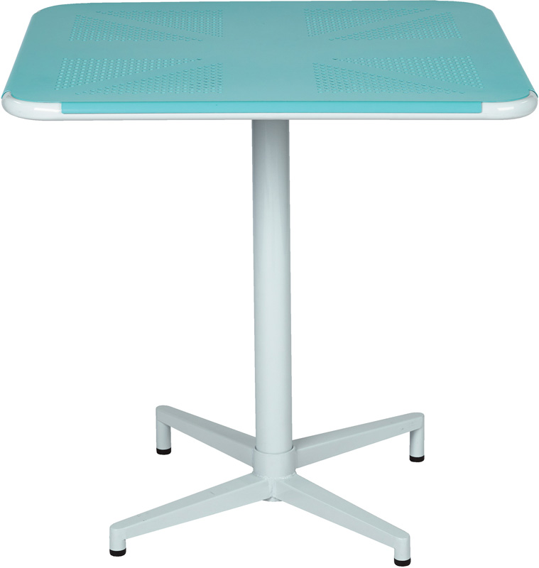 Work Smart Albany 30u0027u0027 Square Pastel Folding Table With Metal Base   Teal [