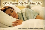 100% Natural Cotton Sheet Set