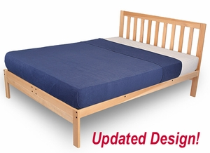 Charleston 2 Platform Bed Frame Solid Hardwood