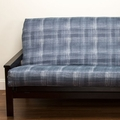 Dungaree Print Futon Cover - Pillows & Bolsters also available