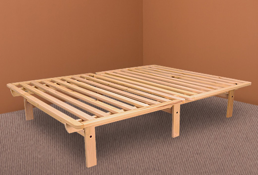 ekko platform bed hardwood frame click to zoom - Platform Bed Frames Full