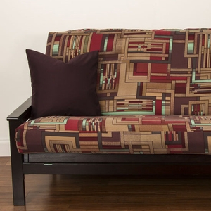 Mission Statement Futon Cover - Pillows & Bolsters also available