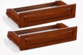 Rolling Futon Drawers - Solid Hardwood