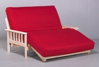 Savannah Lounger Bed Futon Package - Hardwood frame & mattress