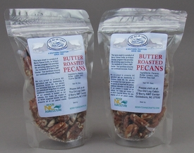 Butter Roasted Pecans with  Salt