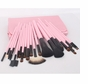 22pc Professional Cosmetic Makeup Brush Set Kit with Pink Bag