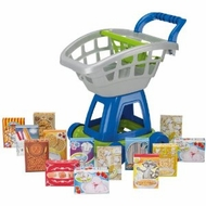 American Plastic Toys 15 Piece Deluxe Shopping Cart with Play Food - click to enlarge