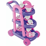 American Plastic Toys My Very Own 26 Piece Tea Cart Set - click to enlarge