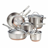Anolon 75818 Nouvelle Copper Stainless Steel Cookware Set, 10-Piece - click to enlarge