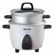 Aroma ARC-733-1G 3-Cup Rice Cooker & Food Steamer - click to enlarge